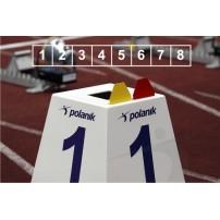 Set marcaje pista alergare Polanik (8 bucati)