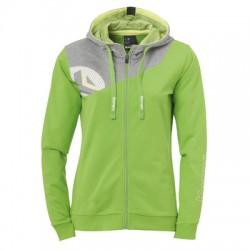 Bluza dama bumbac Kempa Core 2.0 verde/gri