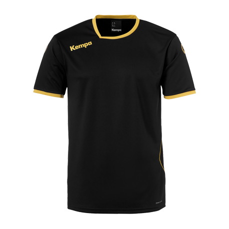 Tricou de joc handbal Kempa Curve negru/auriu