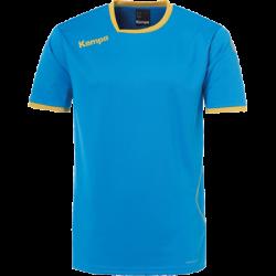 Tricou de joc handbal Kempa Curve albastru/auriu