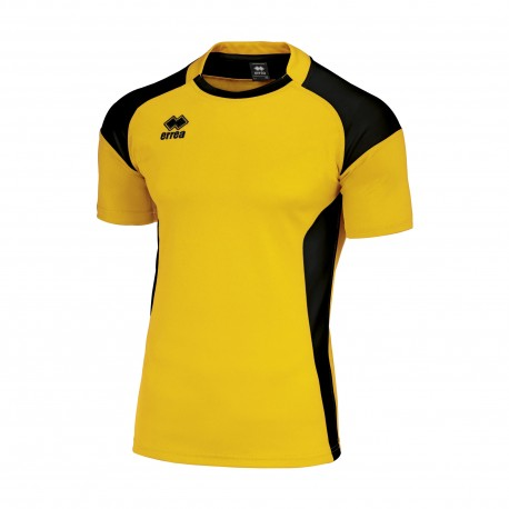 Tricou joc rugby Errea Skarlet  galben/negru