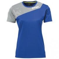Tricou de joc handbal dama Kempa Core 2.0 albastru/gri