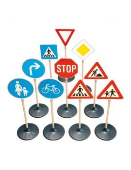 Set 10 semne rutiere