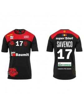 Tricou negru/rosu suporter Dinamo Bucuresti