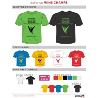 Tricou Chic One Defense wins champs
