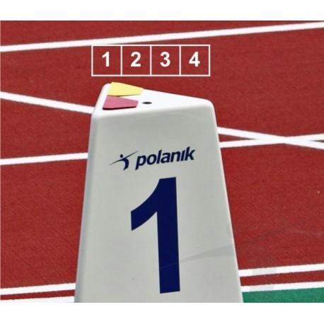 Set marcaje pista alergare Polanik LM-60/4 (4 bucati)