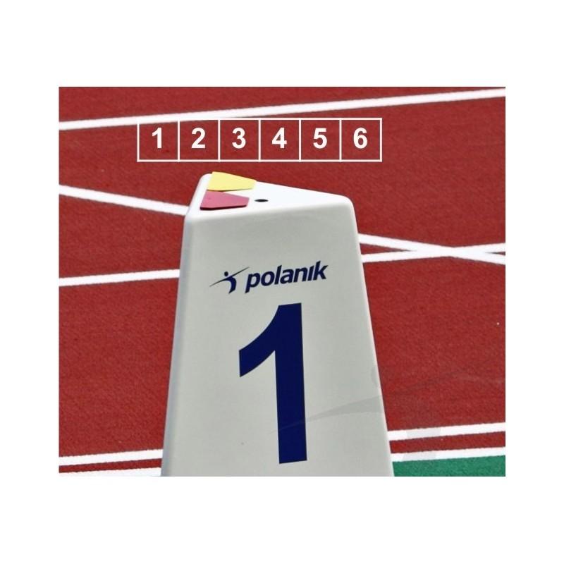 Set marcaje pista alergare Polanik LM-60/6 (6 bucati)