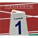 Set marcaje pista alergare Polanik LM-60/8 (8 bucati)