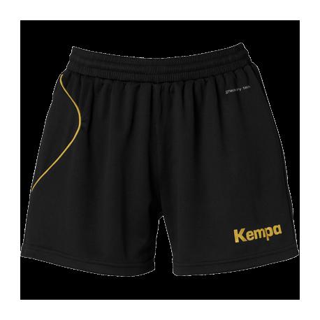 Sort de handbal dama Kempa Curve negru/auriu