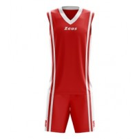 Echipament de joc rugby Zeus Bozo rosu/alb